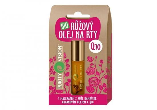 PURITY VISION Bio Růžový olej na rty s Q10, 10ml