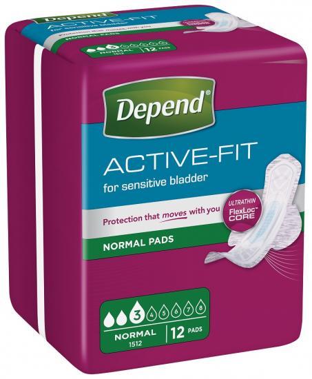 Depend Active-Fit Normal dámské vložky 12 ks
