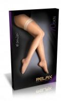 Stehenní punčochy New Relax 70 DEN krajka