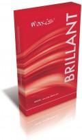 Stehenní punčochy kompresivní Brillant II.K.T. lem