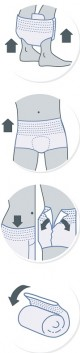 iD Pants X-Small Plus plenkové kalhotky navlékací 14 ks