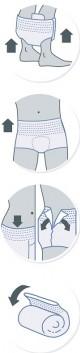 iD Pants Medium Super plenkové kalhotky navlékací 14 ks