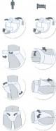 iD Belt Medium Plus plenkové kalhotky s upínacím pásem 14 ks