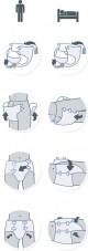 iD Slip Medium Maxi prodyšné plenkové kalhotky zalepovací 15 ks