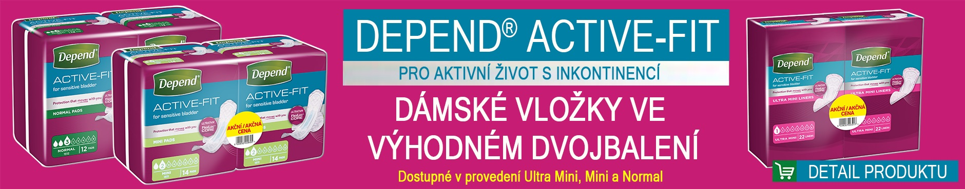 Depend Duopack Active-Fit vložky